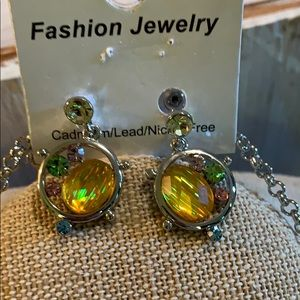 Fashion Jewelry Jewelry - Gorgeous  Multi Color Earring& Necklace Set